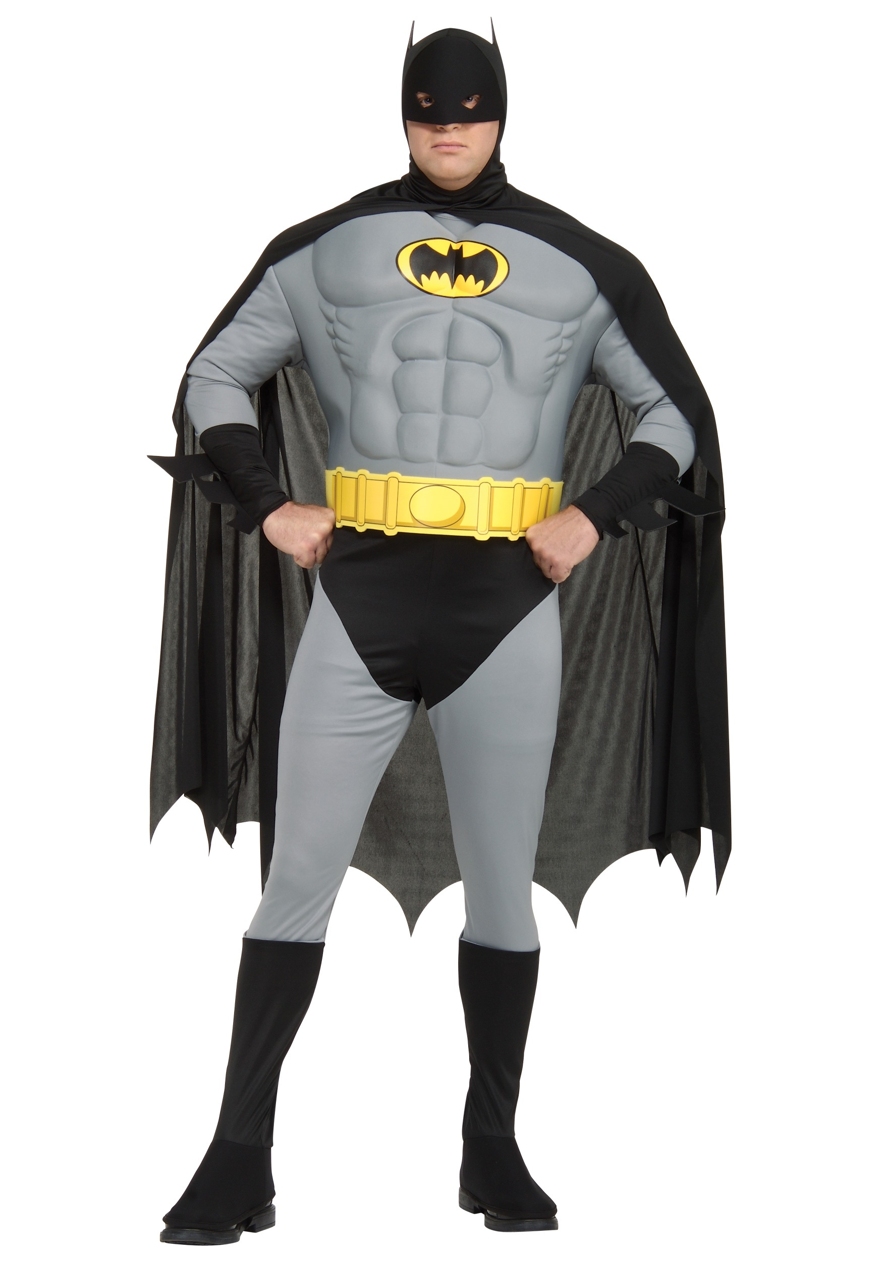Adult Plus Size Batman Costume  sc 1 st  Halloween Costumes & Plus Size Adult Batman Costume for Men 1X