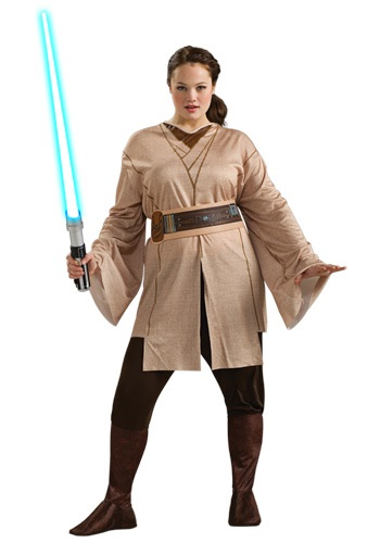 Click Here to buy Female Jedi Costume Plus Size from HalloweenCostumes, USA Funds & Shipping