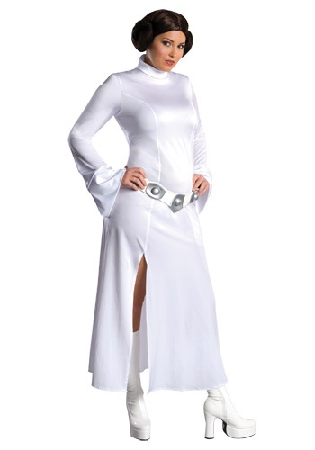 Click Here to buy Plus Size Princess Leia Costume from HalloweenCostumes, CDN Funds