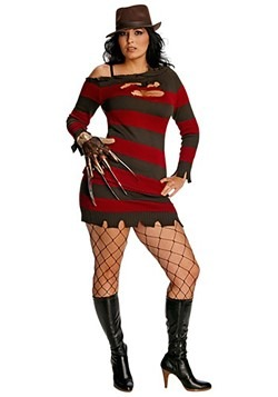 plus size miss krueger costume - Freddy Krueger Halloween Decorations