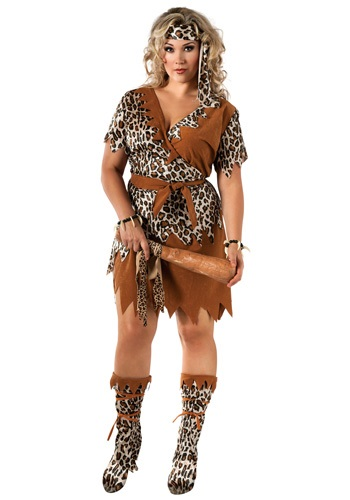 Click Here to buy Cavewoman Plus Size Costume from HalloweenCostumes, CDN Funds