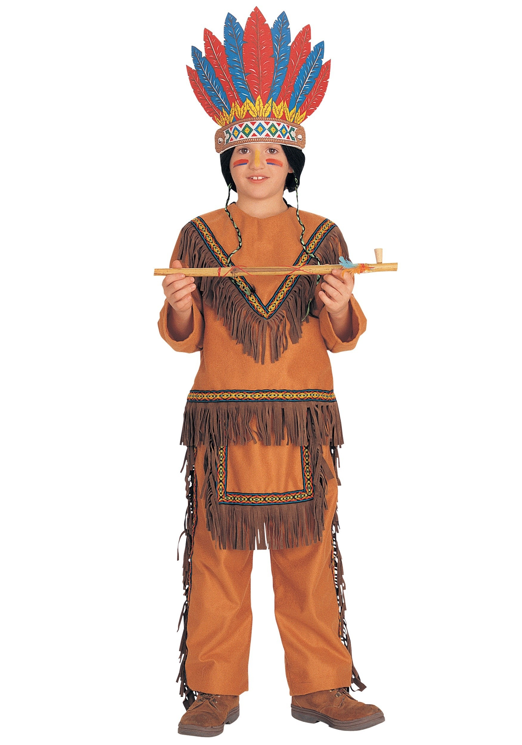 Feathered American Indian HeaddressNative American Boy Costume