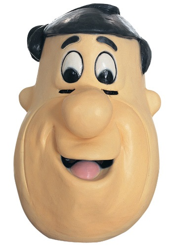 Click Here to buy Rubber Fred Flintstone Mask from HalloweenCostumes, USA Funds & Shipping