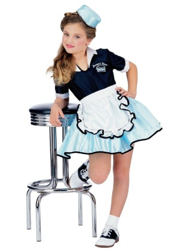 Click Here to buy Kids Car Hop Girl Costume from HalloweenCostumes, USA Funds & Shipping