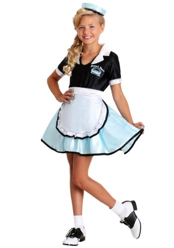 Click Here to buy Kids Car Hop Girl Costume from HalloweenCostumes, CDN Funds