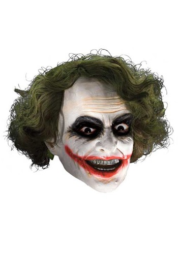 Click Here to buy Adult Deluxe Joker Mask with Hair from HalloweenCostumes, CDN Funds
