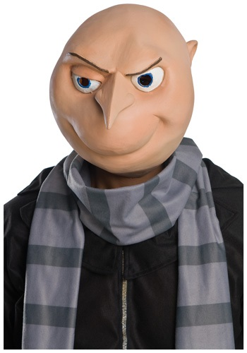 Adult Despicable Me Gru Mask - Funny Super-Villain Costume Accessory