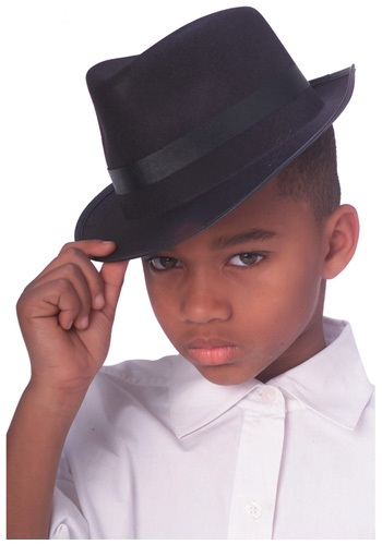 Click Here to buy Kids Gangster Fedora Hat Costume from HalloweenCostumes, CDN Funds
