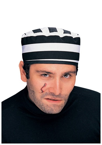 Black and White Stripe Prisoner Hat