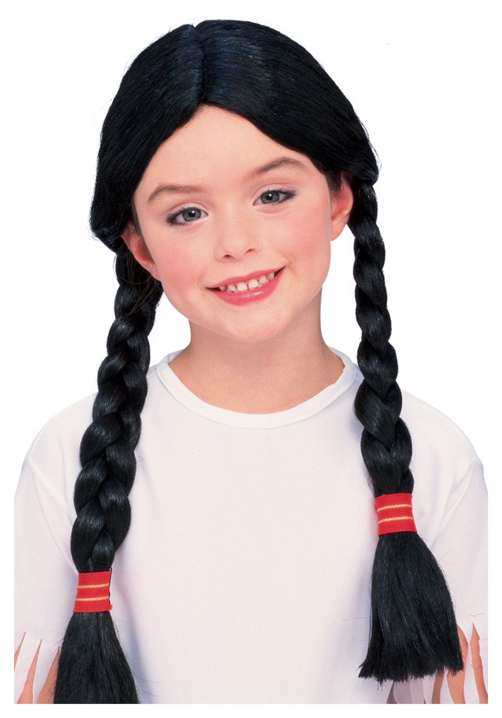Kids Native American Costume Wig  sc 1 st  Halloween Costumes & Girls Native American Costume Wig