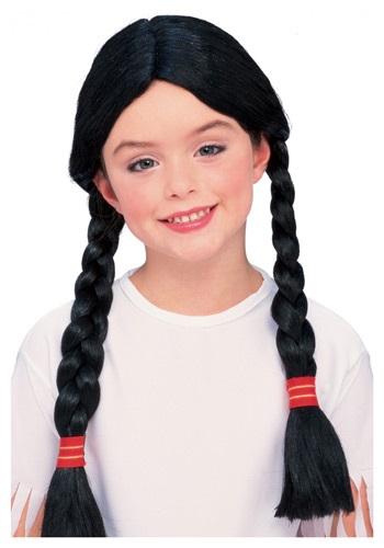 Kids Braided Pigtail Costume Wig