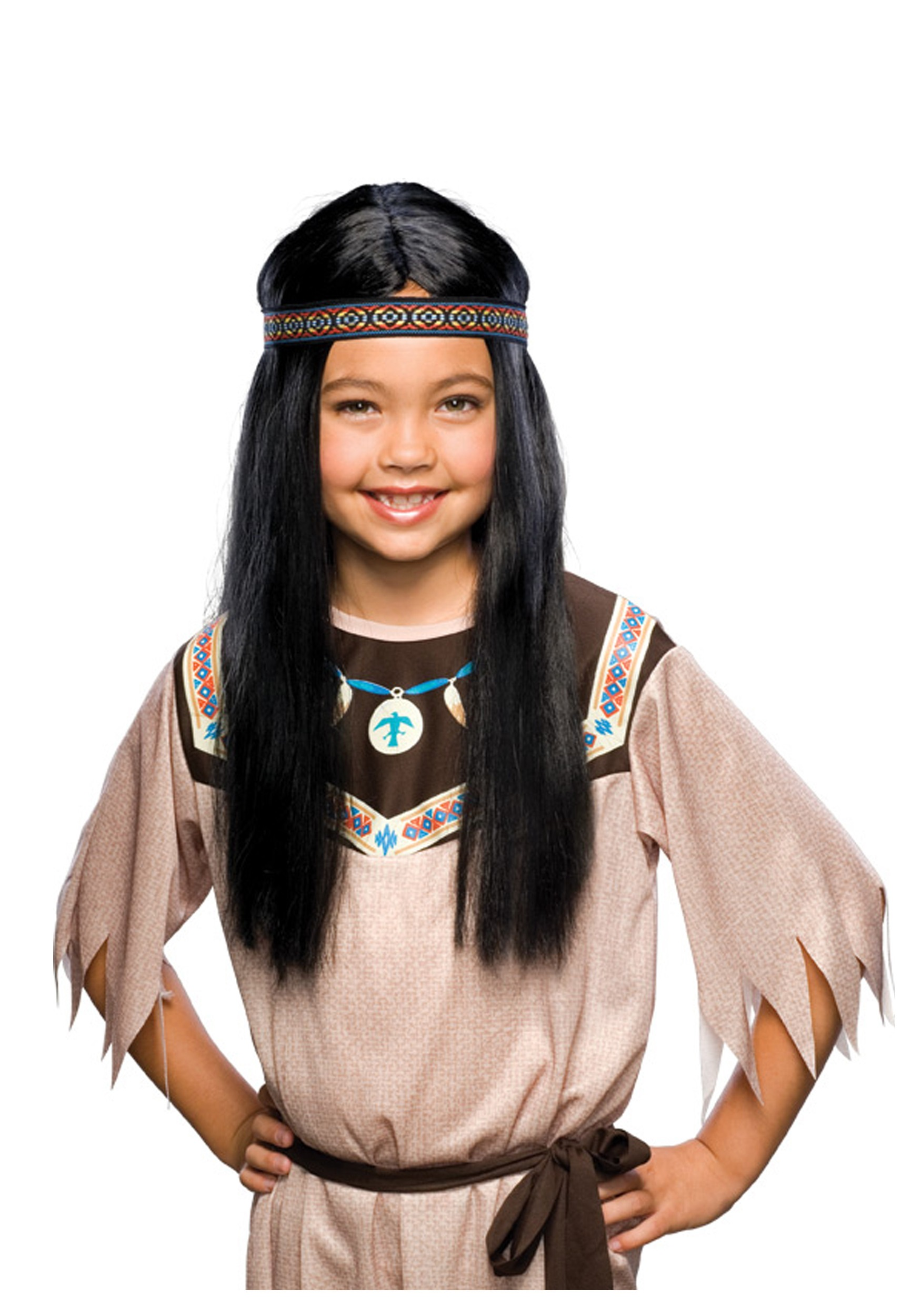 sc 1 st  Halloween Costumes & Child Black Pocahontas Wig