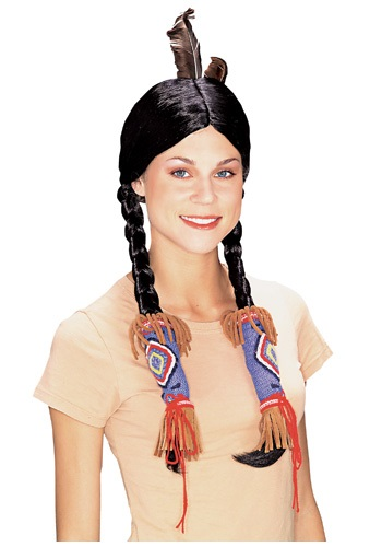 Adult Pocahontas Indian Wig By: Rubies Costume Co. Inc for the 2015 Costume season.