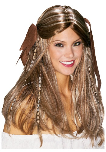 Caribbean Pirate Wench Wig By: Rubies Costume Co. Inc for the 2015 Costume season.