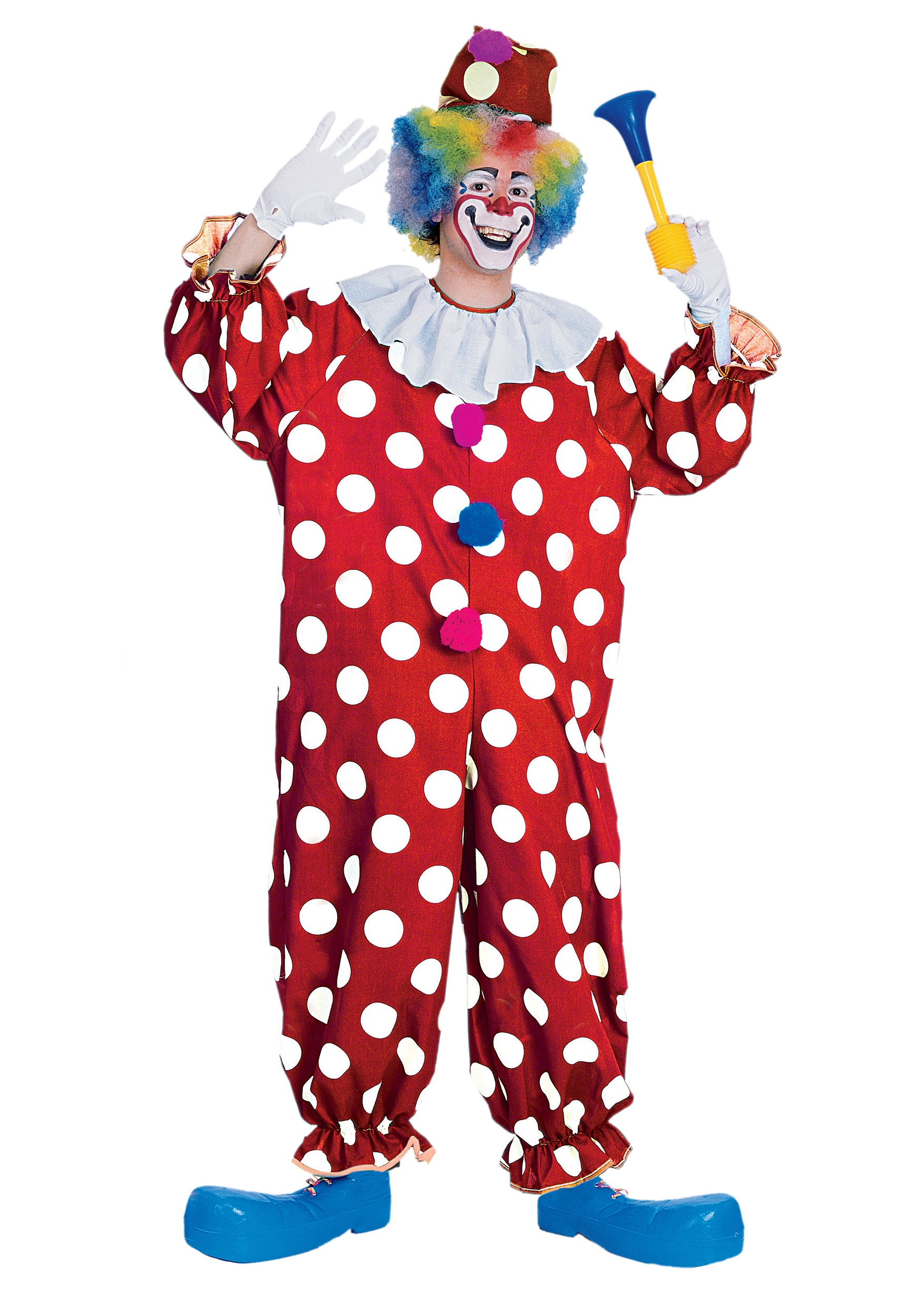 adult dotted clown costume funny adult clown costumes. Black Bedroom Furniture Sets. Home Design Ideas