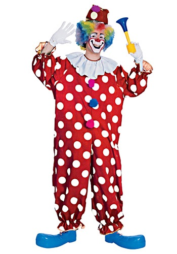 Adult Dotted Clown Costume - Funny Adult Clown Costumes