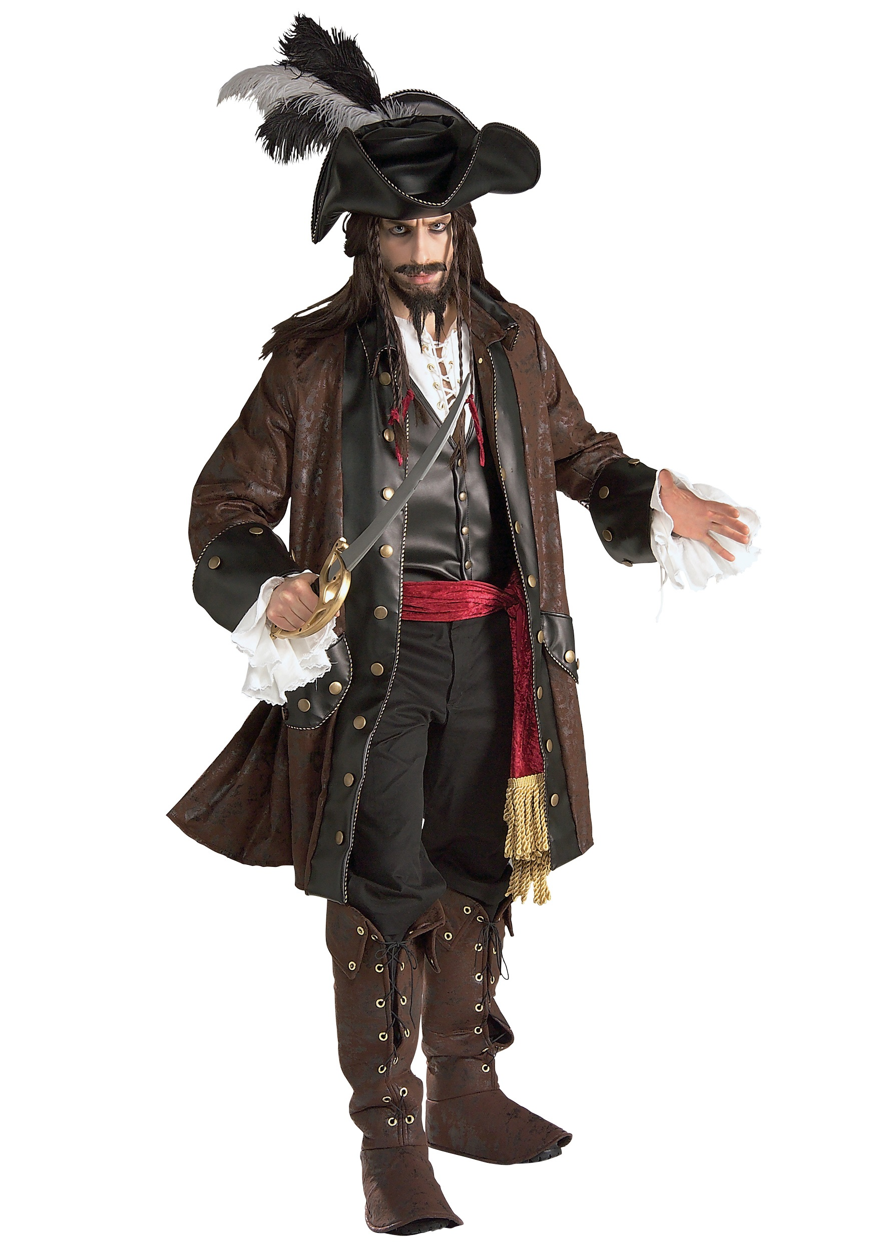 8ed8aa4bc16 Authentic Caribbean Pirate Adult Costume