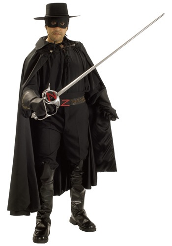 Authentic Zorro Costume - Mens Authentic Superhero Costumes