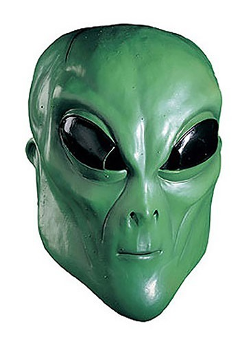 Green Alien Mask - Adult Alien Halloween Masks
