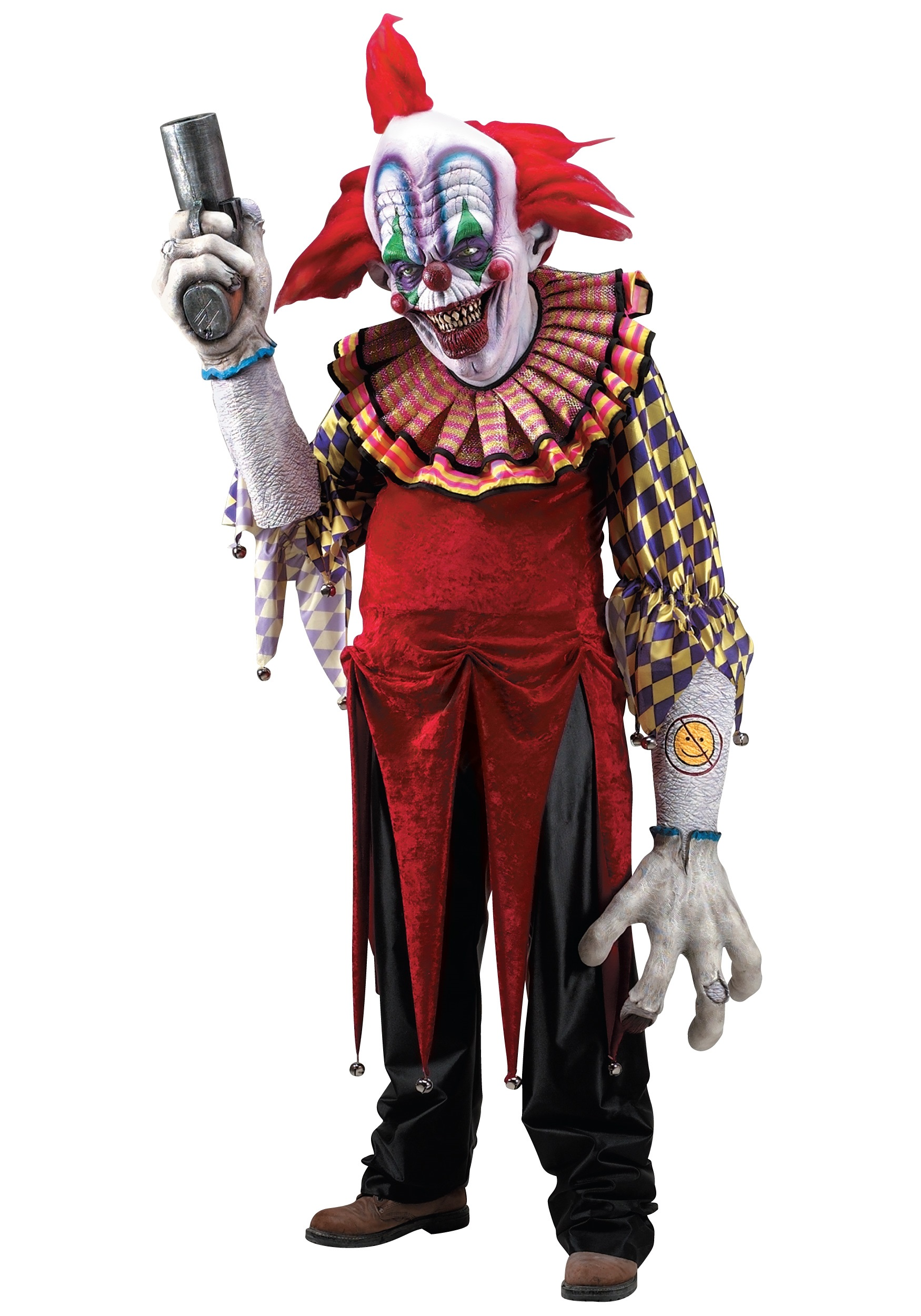 Halloween Clown.Giggles The Clown Creature Reacher Costume