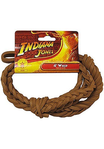 4ft Indiana Jones Whip   Indiana Jones Whip Indy By: Rubies Costume Co. Inc for the 2015 Costume season.