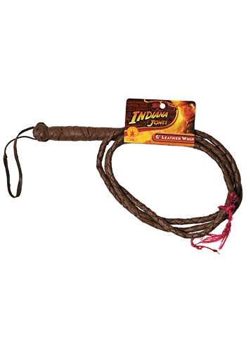 Leather Indiana Jones 6ft Whip By: Rubies Costume Co. Inc for the 2015 Costume season.