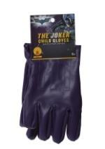 Child Joker Gloves Purple - Halloween Batman Movie Costume Accessory