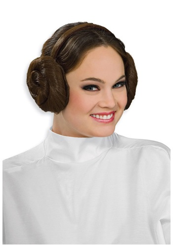 Bun Headpiece Princess Leia   Costume Wig Star Wars Accessory By: Rubies Costume Co. Inc for the 2015 Costume season.