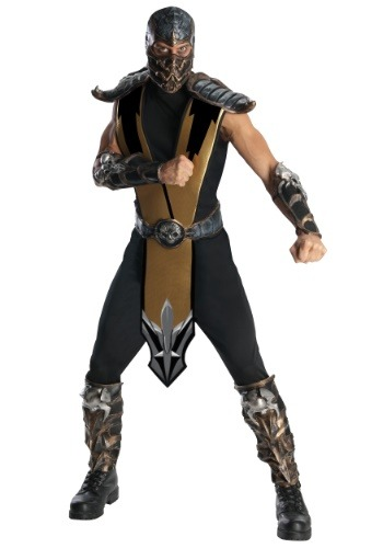 Click Here to buy Mortal Kombat Scorpion Costume from HalloweenCostumes, CDN Funds