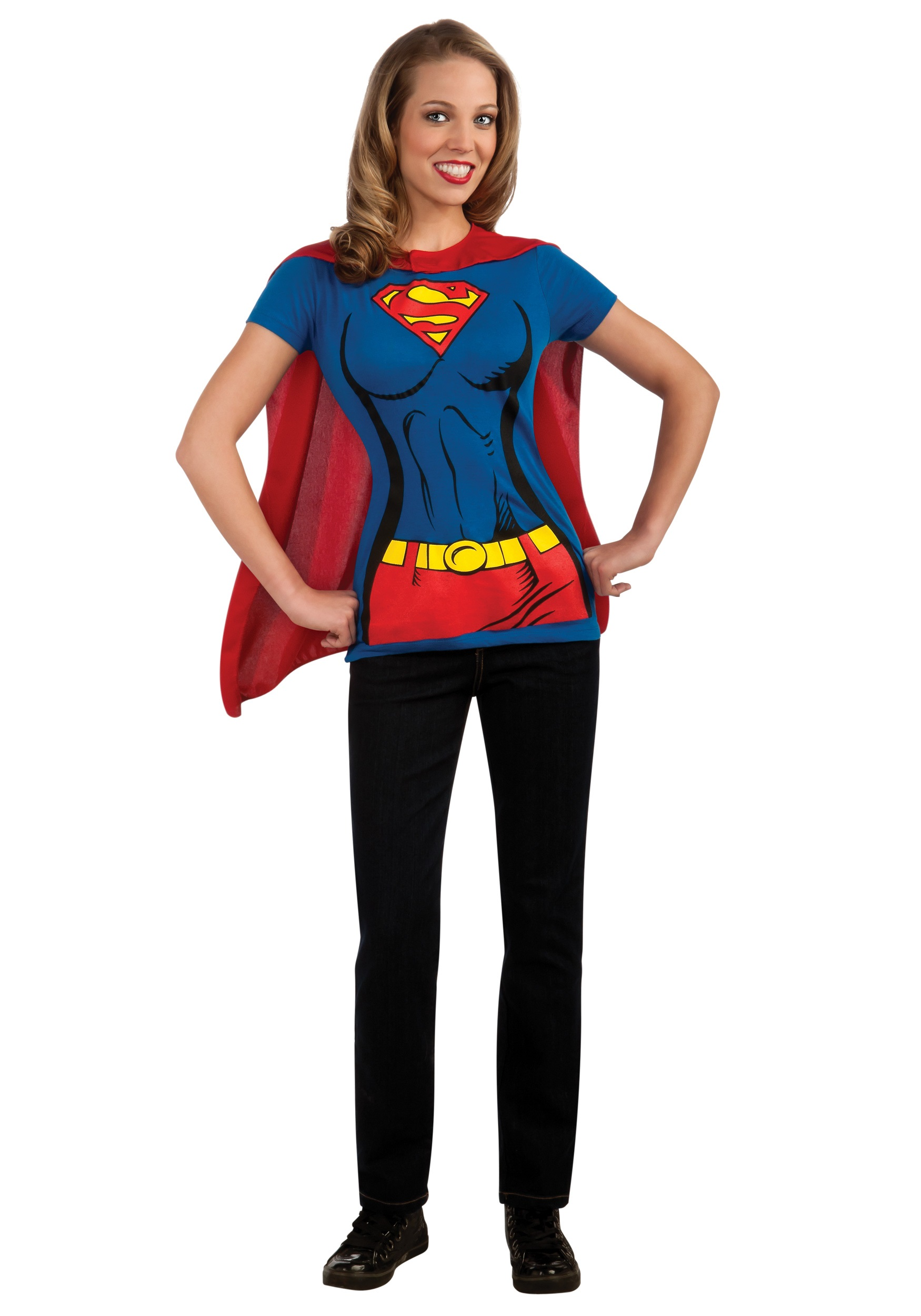 sc 1 st  Halloween Costumes & Supergirl T-Shirt Costume
