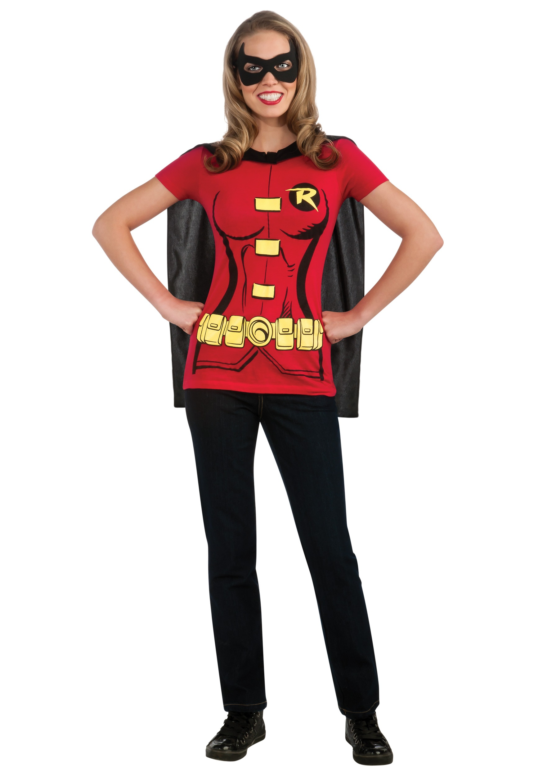 Womens Robin T-Shirt Costume  sc 1 st  Halloween Costumes & Superhero Costumes for Women