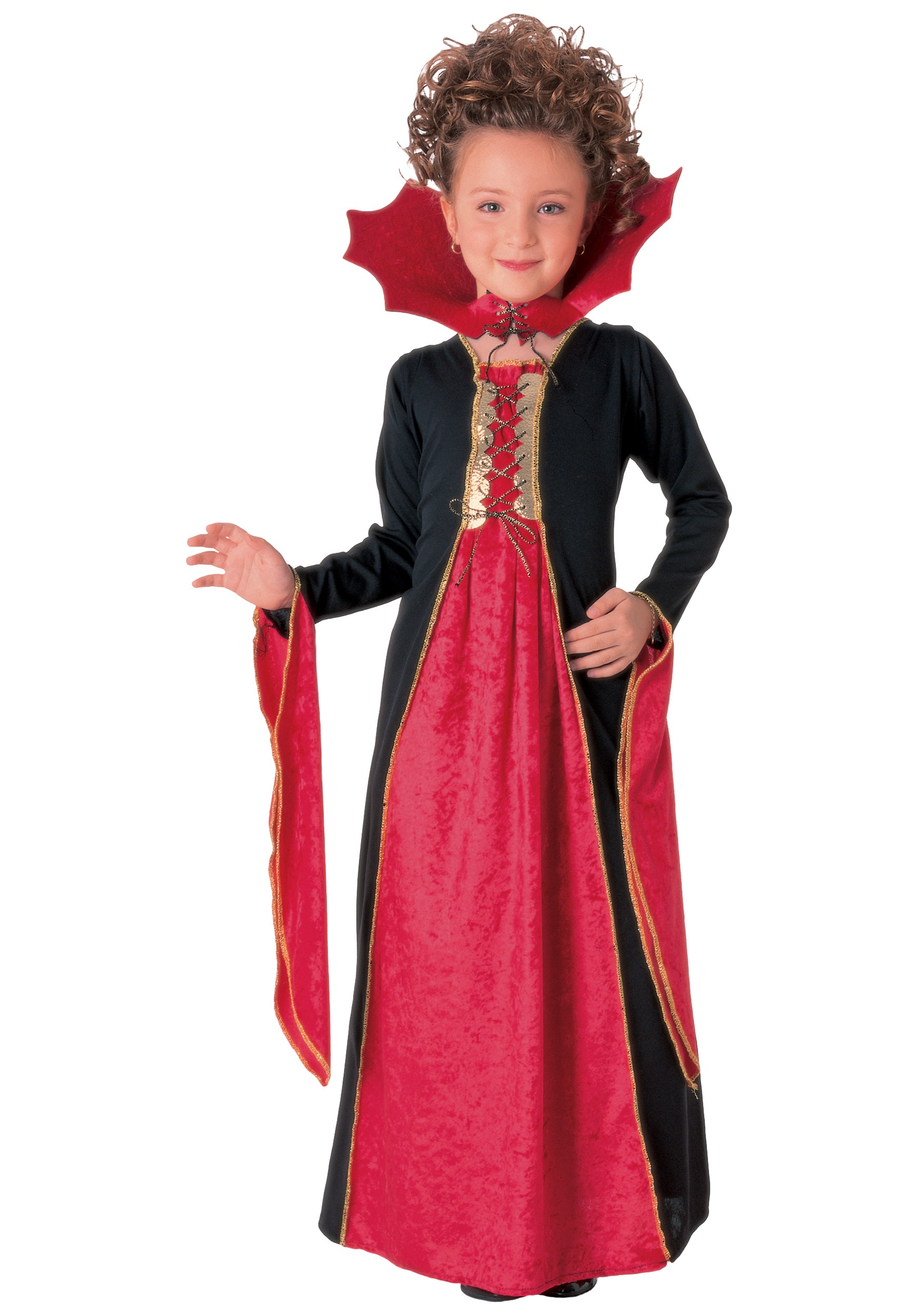 Halloween Vampire Costume Kids.Child Gothic Vampiress Costume