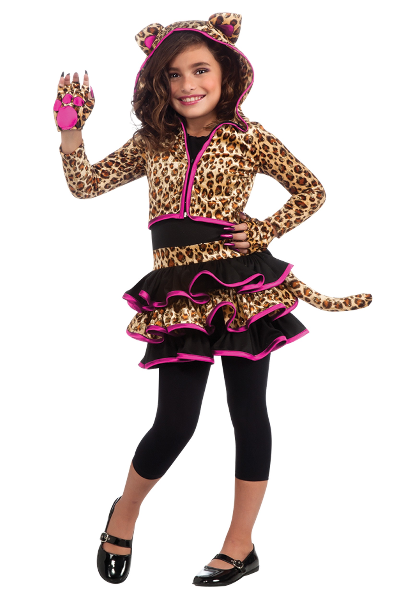 Girls Leopard Hoodie Costume  sc 1 st  Halloween Costumes & Girls Leopard Hoodie Costume - Animals Costumes Kids Costumes