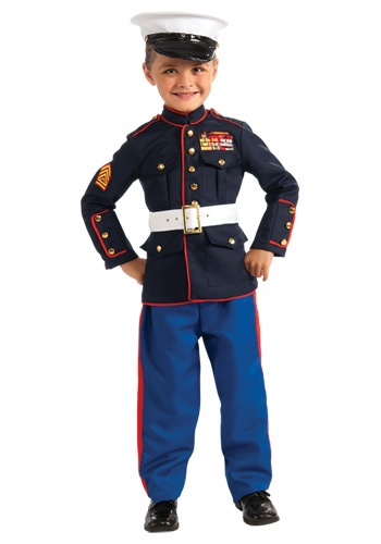 Click Here to buy Kids Marine Uniform Costume from HalloweenCostumes, USA Funds & Shipping