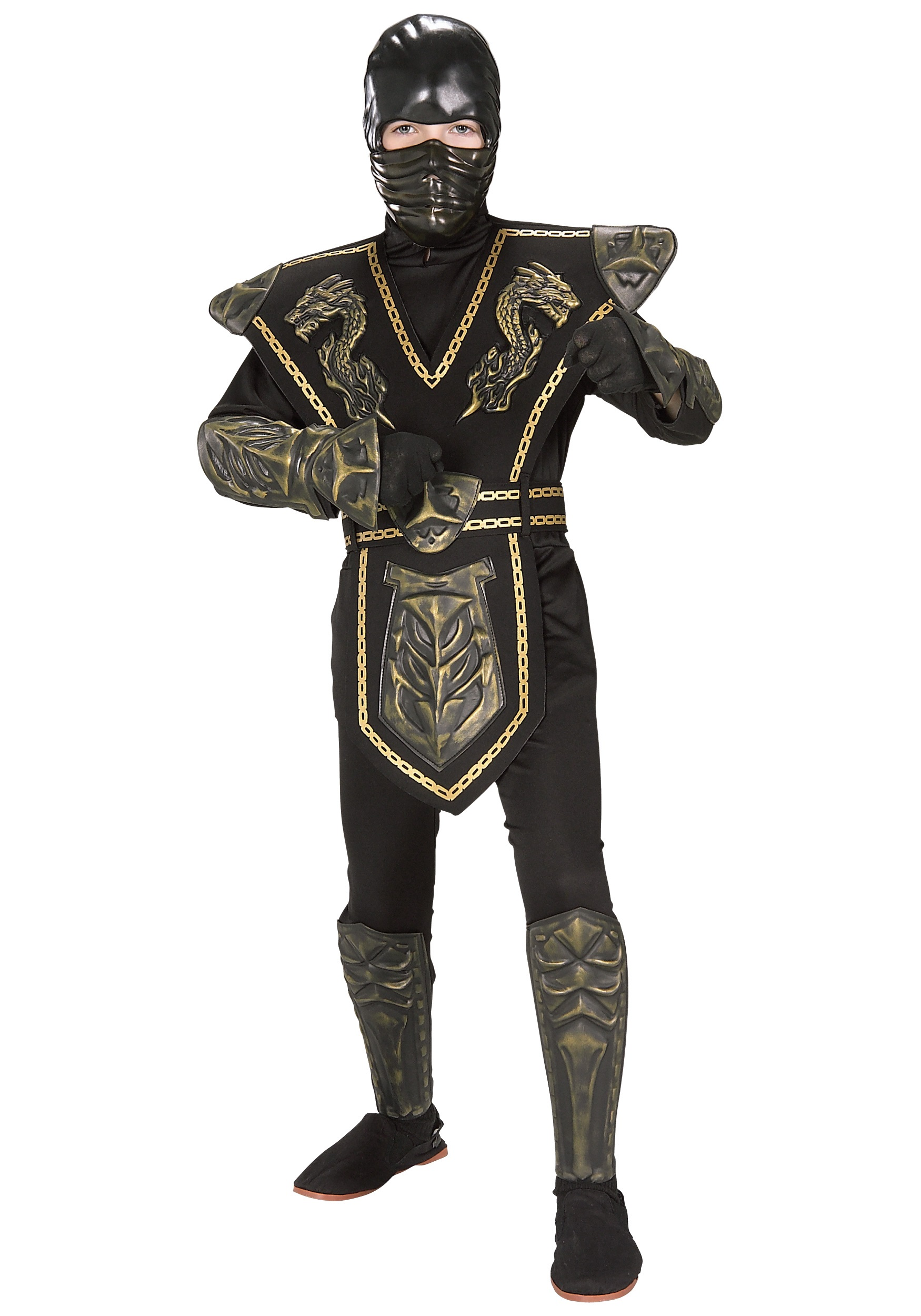 child gold dragon warrior ninja costume. Black Bedroom Furniture Sets. Home Design Ideas