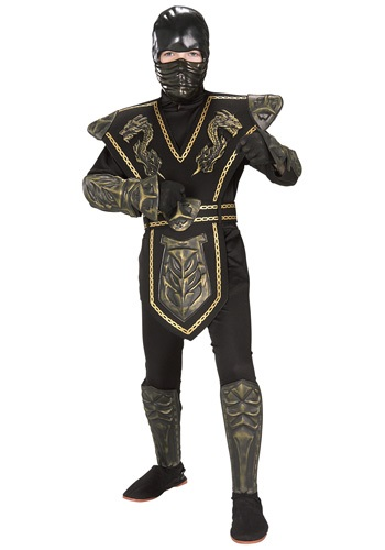 Child Gold Dragon Warrior Ninja Costume By: Rubies Costume Co. Inc for the 2015 Costume season.