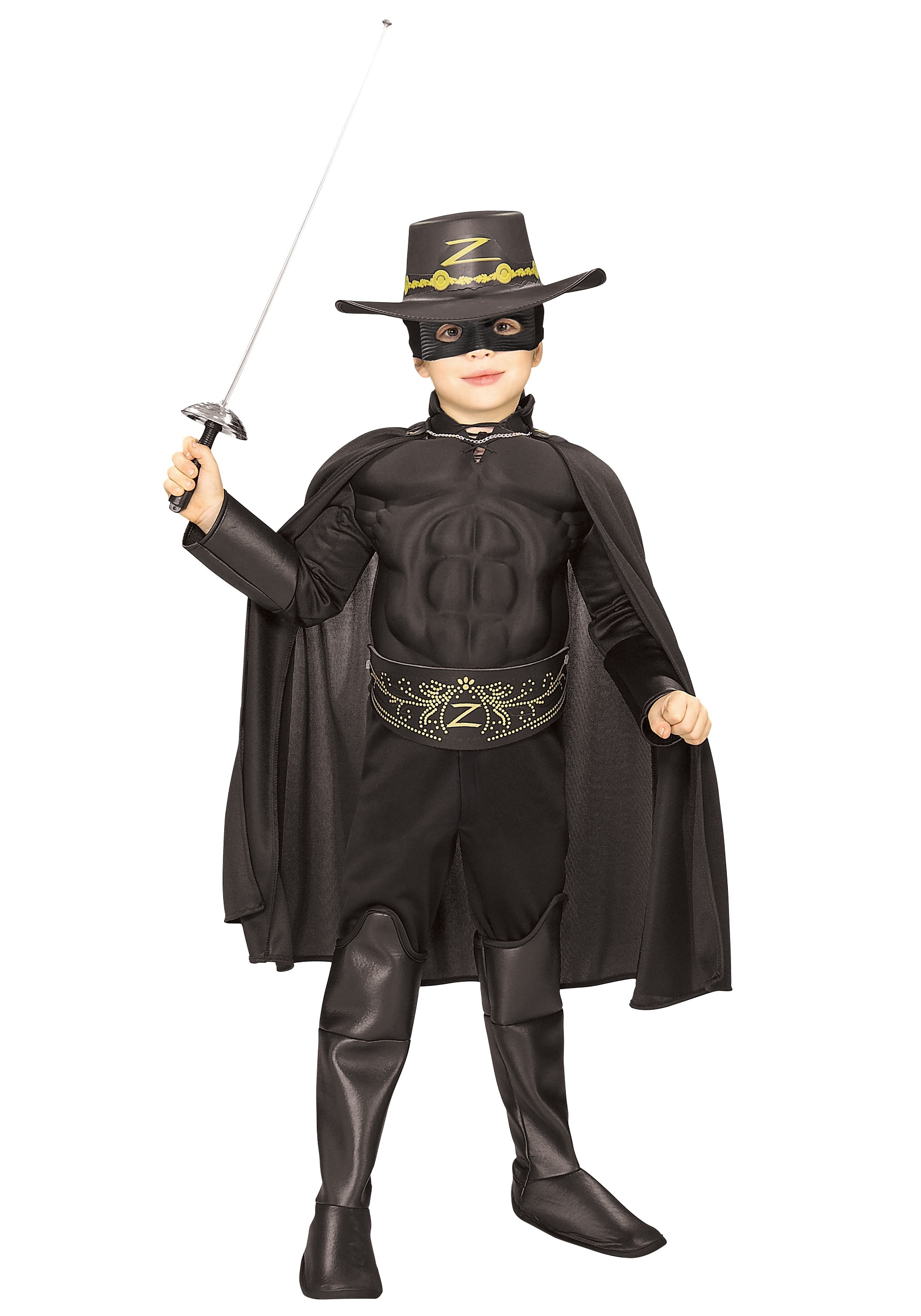 Child Deluxe Zorro Super Hero Costume.