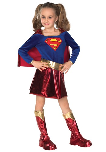 Click Here to buy Kids Supergirl Costume from HalloweenCostumes, USA Funds & Shipping