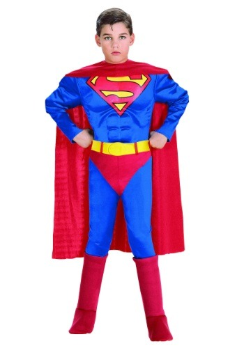 Click Here to buy Toddler Deluxe Superman Costume from HalloweenCostumes, USA Funds & Shipping