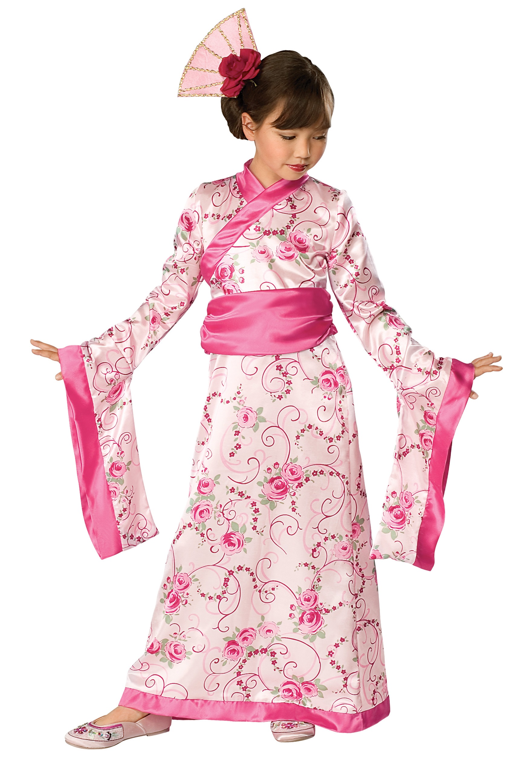 Child Asian Princess Costume  sc 1 st  Halloween Costumes & Child Kimono Princess Costume