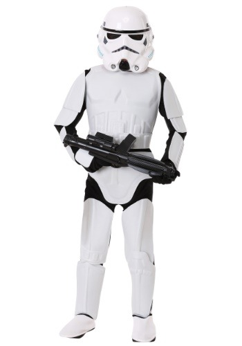Click Here to buy Kids Deluxe Stormtrooper Costume from HalloweenCostumes, USA Funds & Shipping