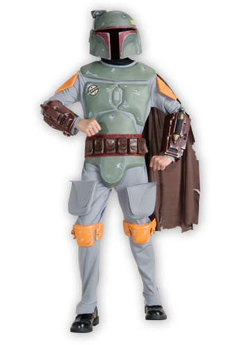 Click Here to buy Kids Deluxe Boba Fett Costume from HalloweenCostumes, USA Funds & Shipping