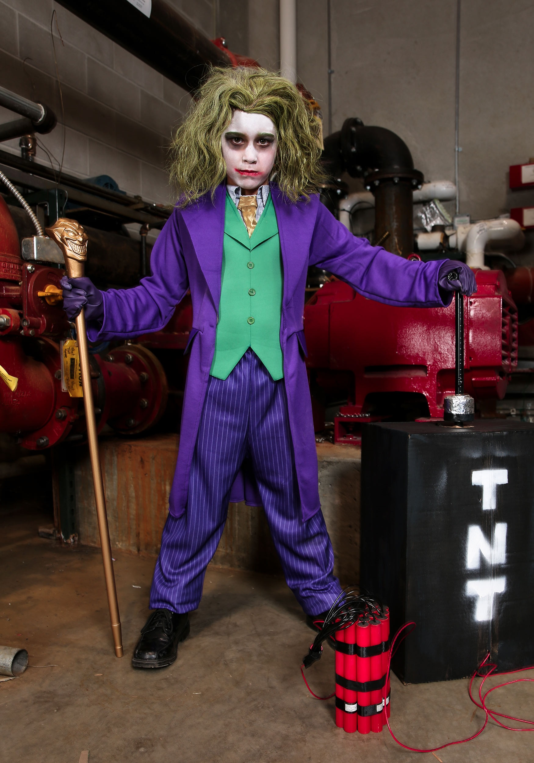 Deluxe Child Joker Costume  sc 1 st  Halloween Costumes & Adults Kids Joker Costumes