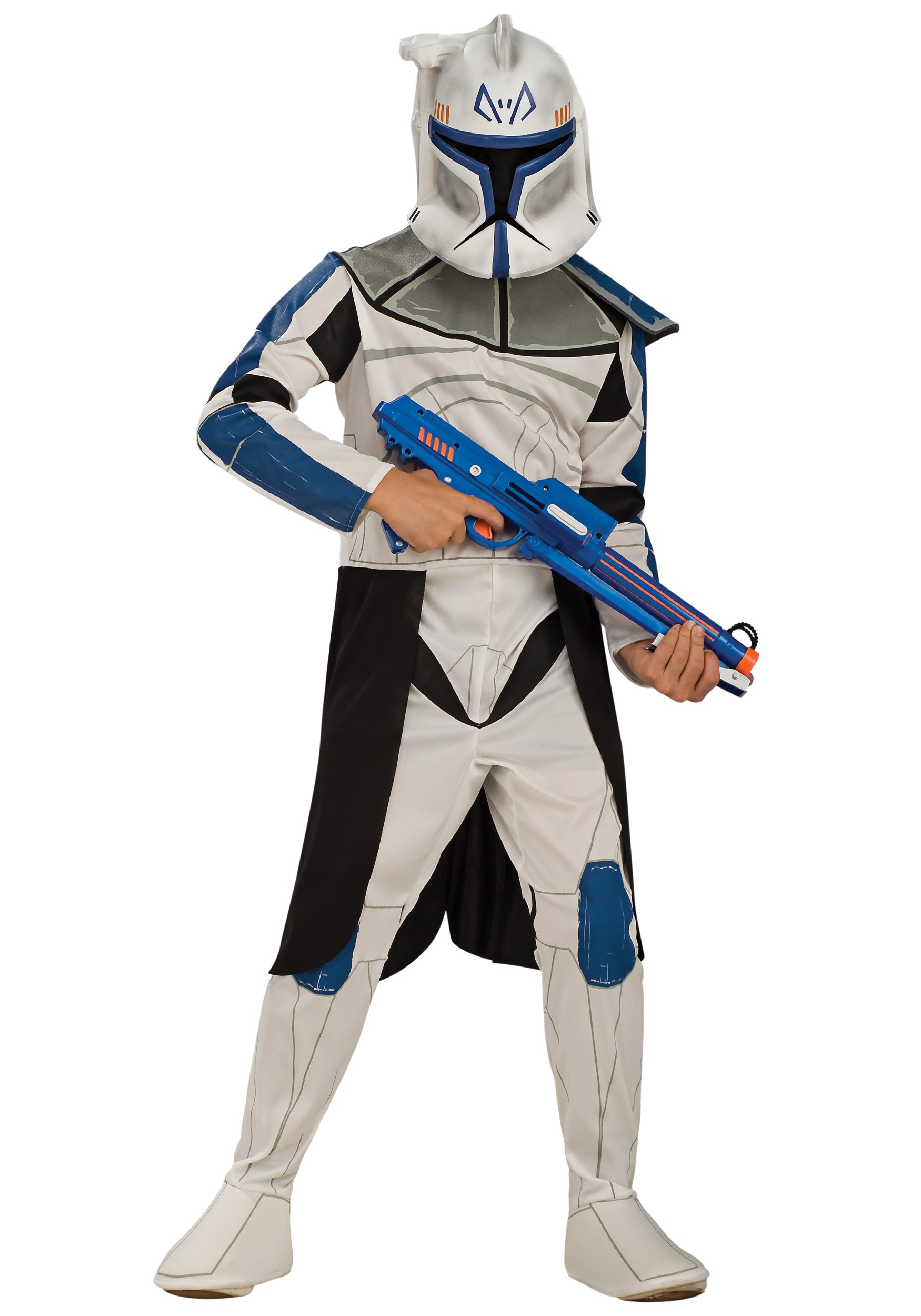 kids blue clone trooper leader rex costume. Black Bedroom Furniture Sets. Home Design Ideas