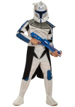 Kids Blue Clone Trooper Leader Rex Costume