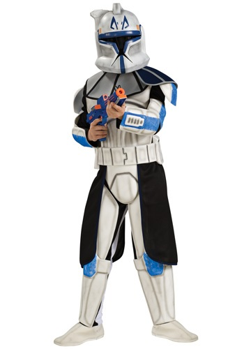 Child Deluxe Blue Clone Trooper Rex Costume By: Rubies Costume Co. Inc for the 2015 Costume season.