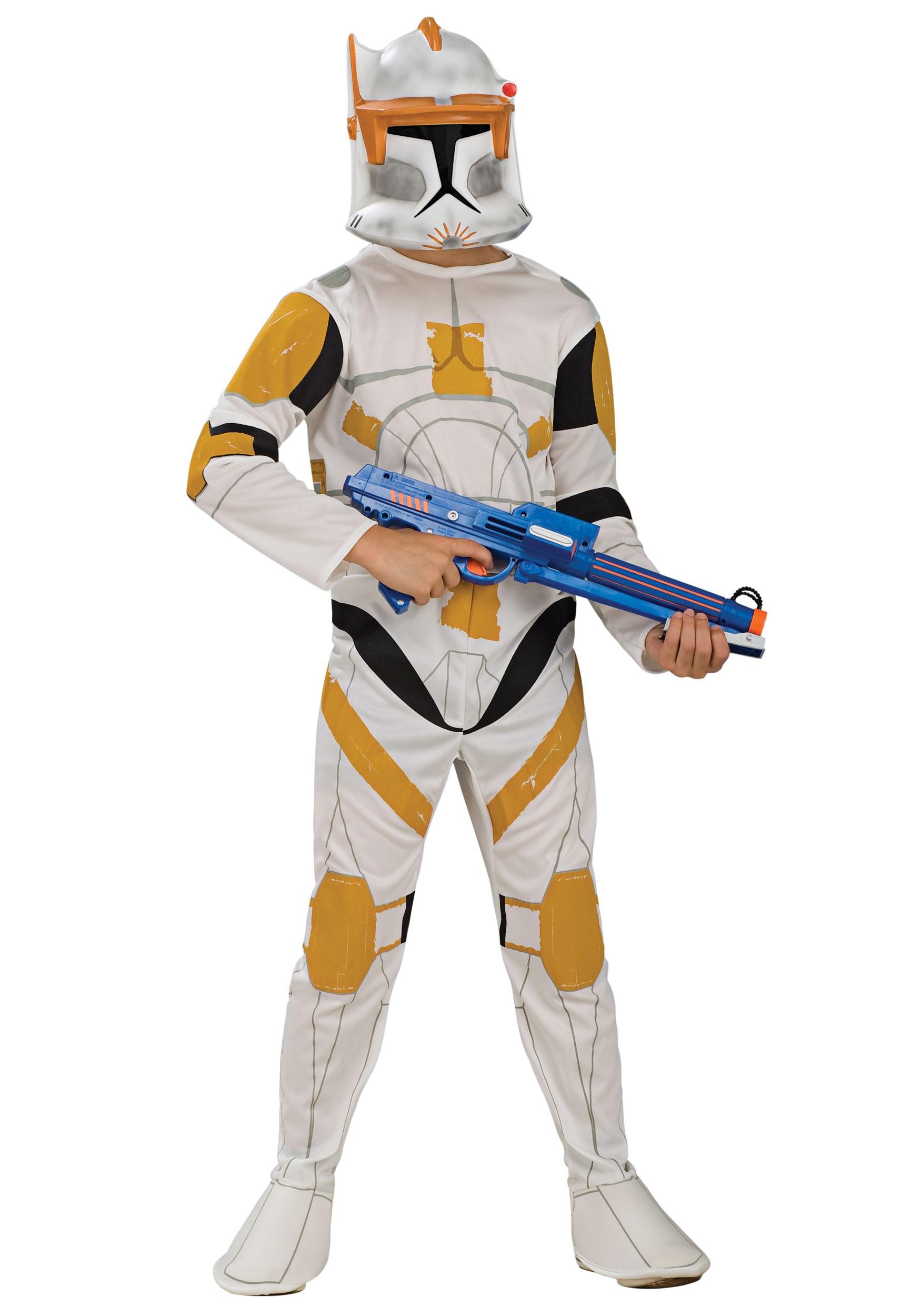 Kids Clone Commander Cody Costume RU883206