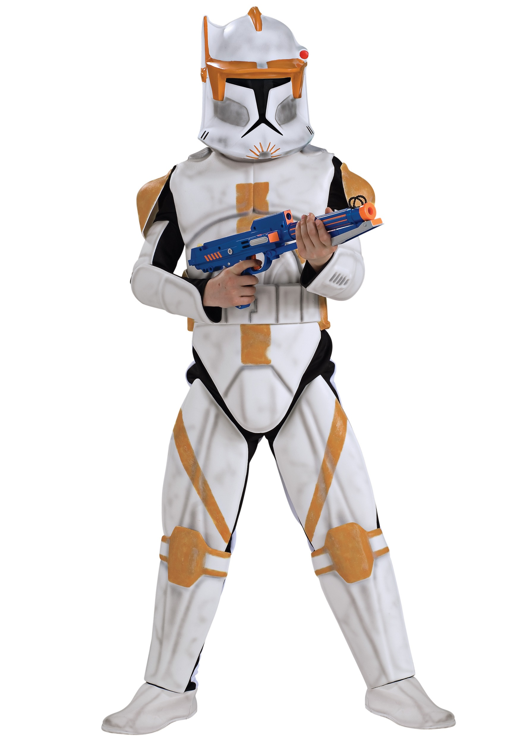 Boys Deluxe Clone Trooper Commander Cody Costume RU883207
