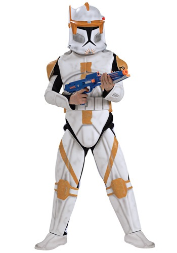 Boys Deluxe Clone Trooper Commander Cody Costume RU883207-L