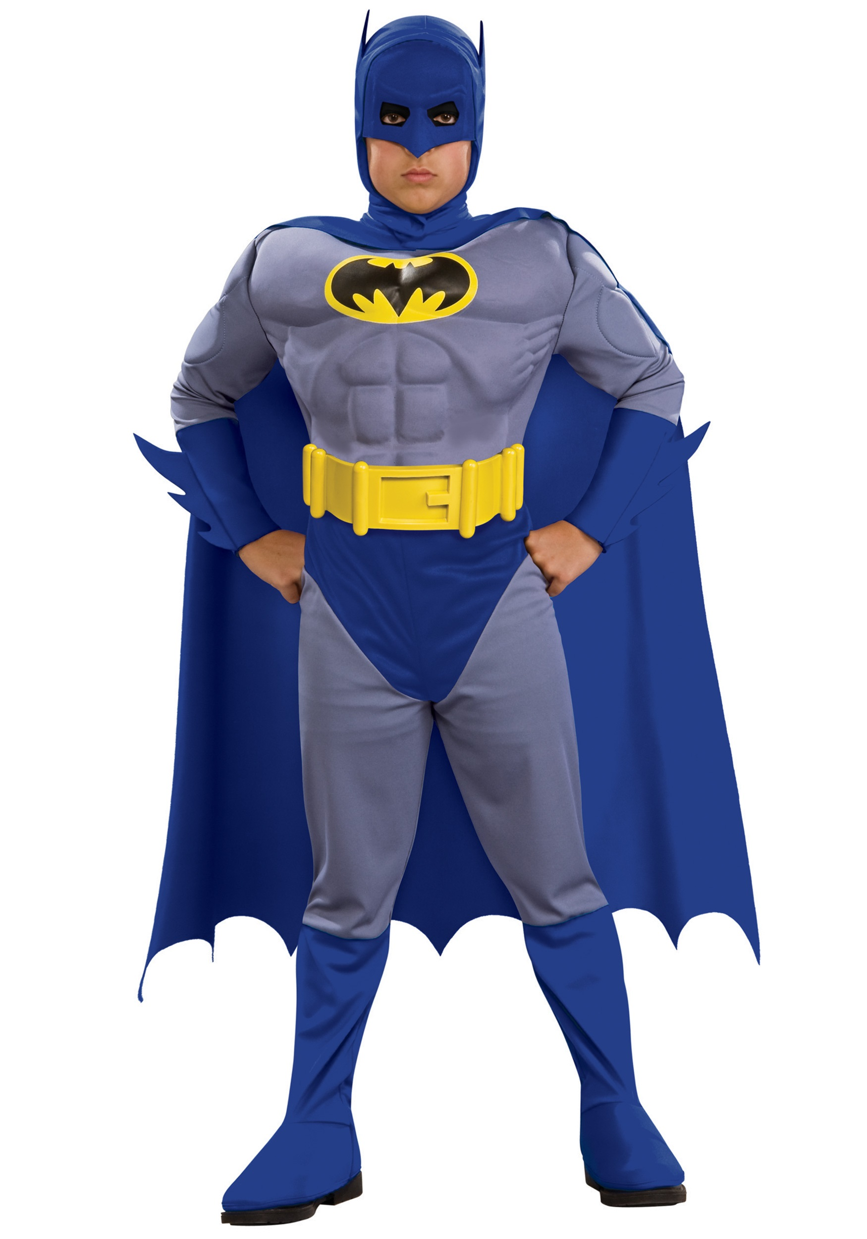 sc 1 st  Halloween Costumes & Child Deluxe Muscle Chest Batman